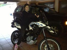 Con la moto de mi padre